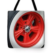 Classic White Wall Tire And Mag Tote Bag