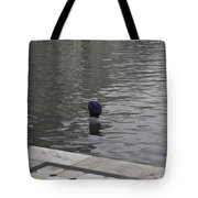 Cleaning The Sarovar In The Golden Temple Tote Bag