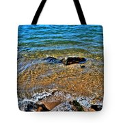 Clear Waves  Tote Bag
