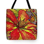 Clematis In Colored Pencil  Tote Bag