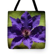 Clematis On Stone Tote Bag