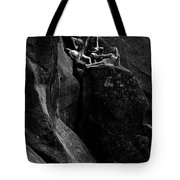 Cliff Dancers Black And White Tote Bag