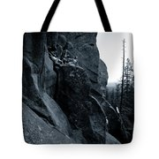 Cliff Dancers Three Black And White Tote Bag