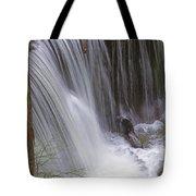 Cliff Falls In Maple Ridge Tote Bag
