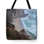Cliffs And Surf On The California Coast Tote Bag