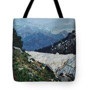 Climbing Mount Rainier Tote Bag