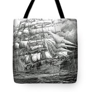 Clipper In The Storm Filtered Tote Bag