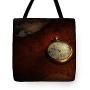 Clock - Time Waits For Nothing  Tote Bag by Mike Savad