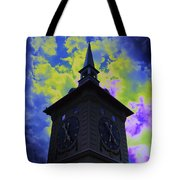 Clock Tower Night Tote Bag