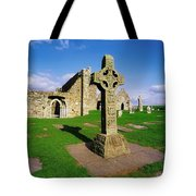 Clonmacnoise, Co Offaly, Ireland High Tote Bag