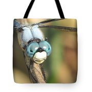 Close Up Blue Eyes Tote Bag