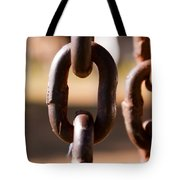 Close Up Of A Chain Link Tote Bag