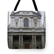 Close Up Of A Classical Architecture Of A Building In London Tote Bag