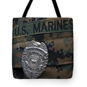 Close-up Of A Duty Master-at-arms Badge Tote Bag