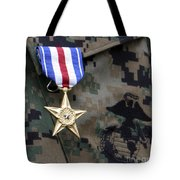Close-up Of A Medal On The Uniform Tote Bag