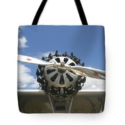 Close-up Of Engine On Antique Seaplane Canvas Poster Print Tote Bag