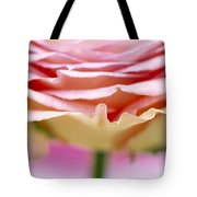 Close Up Of Rose Showing Petal Detail Tote Bag