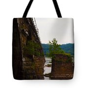 Close Up Of The Bridge Over The River Tote Bag