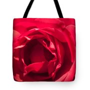Close Up Of The Petals Of A Red Rose Tote Bag