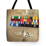 Close-up View Of Military Decorations Tote Bag