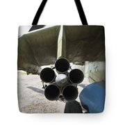 Close-up View Of The Rocket Pod On An Tote Bag