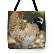Close View Of A Rooster Tote Bag