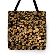 Close View Of Freshcut Wood Waiting Tote Bag