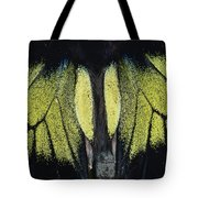 Close View Of Iridescent Moth Wings Tote Bag