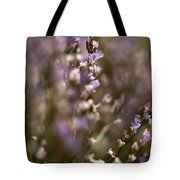 Close View Of Purple Wildflowers Tote Bag