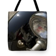 Close View Of The Headlight Tote Bag