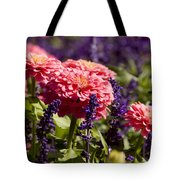 Closeup Of Colorful Flowers In Butchart Tote Bag