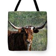 Closeup Of Texas Longhorn Tote Bag
