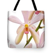 Closeup Pink Orchid Tote Bag