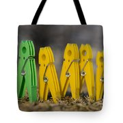 Clothespin Tote Bag