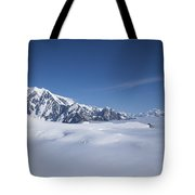 Cloud-covered Bowl Of The Upper Hubbard Glacier Tote Bag
