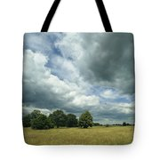 Cloud-filled Sky Over A Cluster Tote Bag