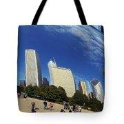 Cloud Gate Millenium Park Chicago Tote Bag