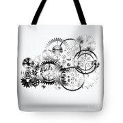 Cloud Made By Gears Wheels  Tote Bag