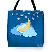 Cloud Moon And Stars Design Tote Bag