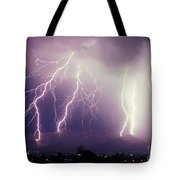 Cloud To Ground Lightning Tote Bag