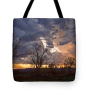 Clouded Sunset Tote Bag