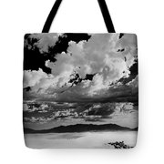 Clouds Above White Sands Tote Bag