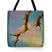 Clouds And Branches Of Life Tote Bag