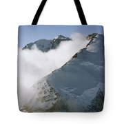Clouds Drif Through Peaks Of The Queen Tote Bag