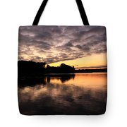 Clouds Going Away At Sunrise Tote Bag