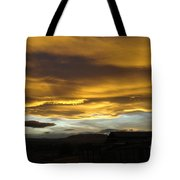 Clouds Illuminated At Sunset Tote Bag