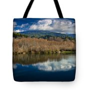 Clouds On The Klamath River Tote Bag