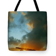 Clouds Over A Tomb, Poulnabrone Dolmen Tote Bag