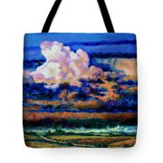 Clouds Over Country Road Tote Bag