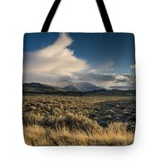 Clouds Over East Humboldts Tote Bag